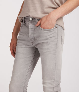 Mens Ghoul Cigarette Jeans (Grey) - Image 2