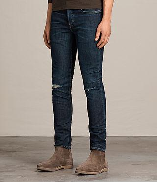 Mens Keiko Cigarette Jeans (Indigo) - product_image_alt_text_3