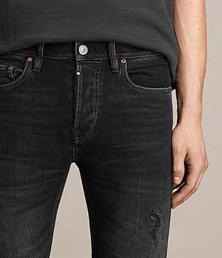 Mens Baden Cigarette Jeans (Jet Black) - product_image_alt_text_3