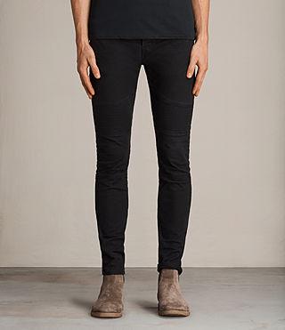 Mens Hoxley Wilkins Cigarette Jeans (Black)