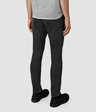 Men's Keppoch Cigarette Jeans (Black) - product_image_alt_text_3