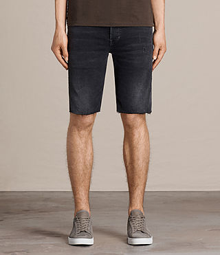 Hommes Short en jean Battery Switch (Jet Black) -
