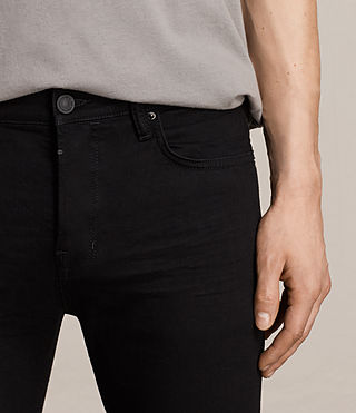 Mens Crow Cigarette Jeans (Jet Black) - product_image_alt_text_2