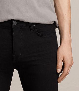Men's Crow Cigarette Jeans (Jet Black) - product_image_alt_text_2