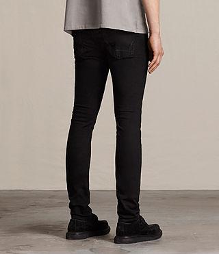 Men's Crow Cigarette Jeans (Jet Black) - product_image_alt_text_3