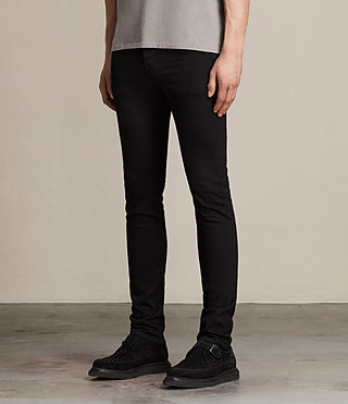 Mens Crow Cigarette Jeans (Jet Black) - product_image_alt_text_4