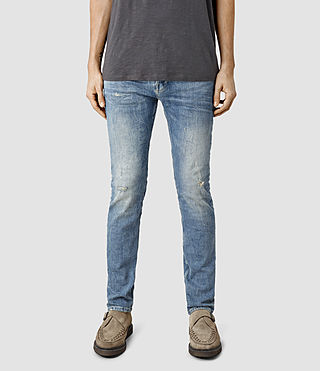 Men's Husk Cigarette Jeans (BleachedIndigoblue)