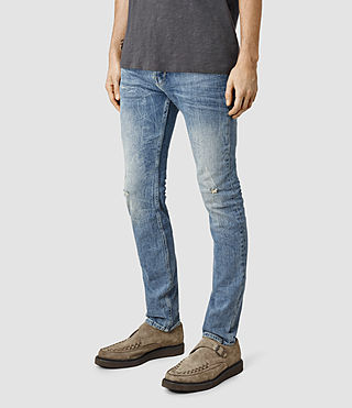 Uomo Husk Cigarette Jeans (BleachedIndigoblue) - product_image_alt_text_2