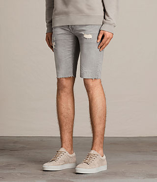 Hombres Gilroy Switch Denim Shorts (Grey) - product_image_alt_text_4