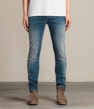 Men's Davis Cigarette Jeans (Indigo Blue)