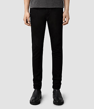 Mens Crow Cigarette Jeans (Black)