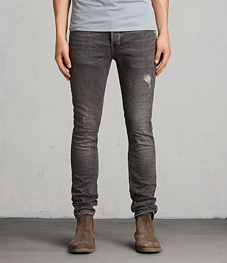 Mens Raveline Cigarette Jeans (Dark Grey) - product_image_alt_text_1