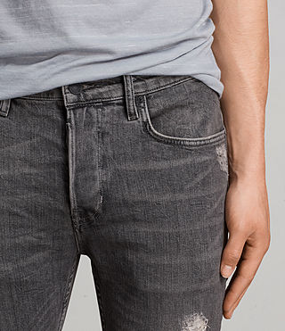 Mens Raveline Cigarette Jeans (Dark Grey) - product_image_alt_text_2