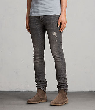 Mens Raveline Cigarette Jeans (Dark Grey) - product_image_alt_text_3