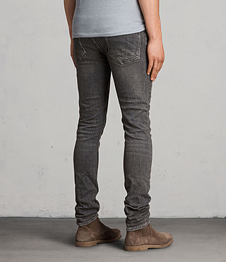 Mens Raveline Cigarette Jeans (Dark Grey) - product_image_alt_text_4