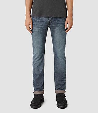 Mens Dunan Iggy Jeans (Indigo Blue)