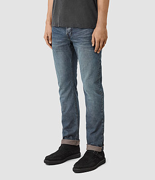 Mens Dunan Iggy Jeans (Indigo Blue) - product_image_alt_text_3
