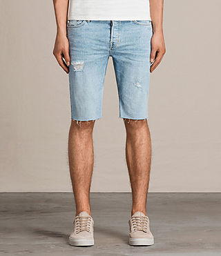 Uomo Donahue Switch Denim Shorts (Indigo Blue) -