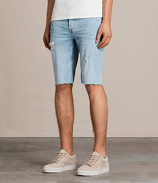 Uomo Donahue Switch Denim Shorts (Indigo Blue) - product_image_alt_text_3