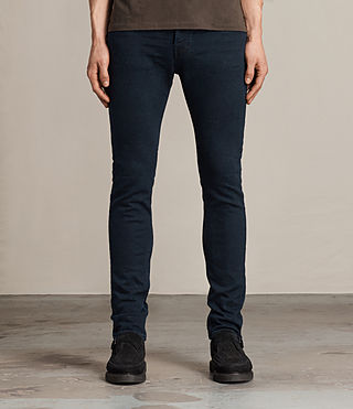 Mens Niigaki Cigarette Jeans (Indigo Blue) - product_image_alt_text_1