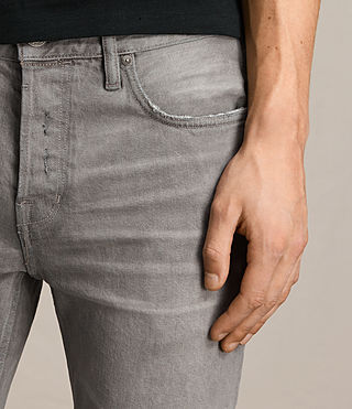 Herren Goree Cigarette Jeans (Grey) - product_image_alt_text_2