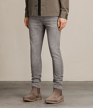 Herren Goree Cigarette Jeans (Grey) - product_image_alt_text_4