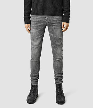Mens Hoxley Wilkins Cigarette Jeans (Grey)