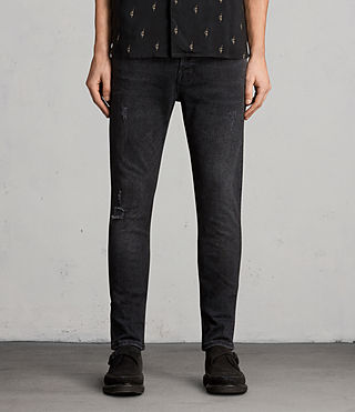Mens Raveline Cigarette Jeans (Black) - product_image_alt_text_1