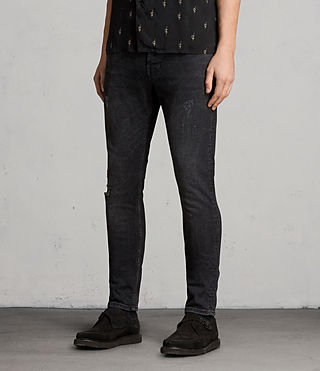 Mens Raveline Cigarette Jeans (Black) - product_image_alt_text_2
