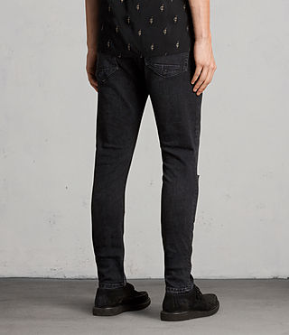 Mens Raveline Cigarette Jeans (Black) - product_image_alt_text_3