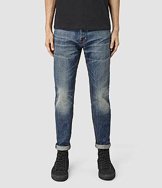 Men's Hobbard Taper Jeans (MID INDIGO BLUE)