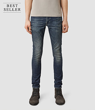 Mens Stamp Cigarette Jeans (Indigo) - product_image_alt_text_1