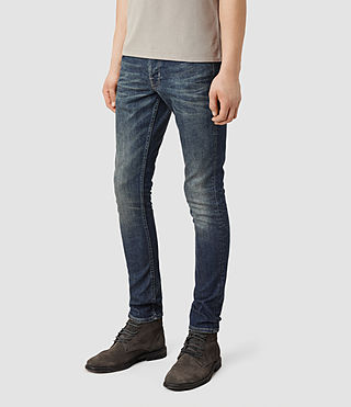 Mens Stamp Cigarette Jeans (Indigo) - product_image_alt_text_2