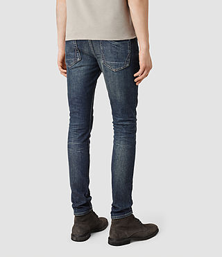 Mens Stamp Cigarette Jeans (Indigo) - product_image_alt_text_3