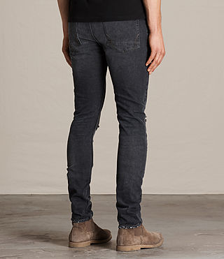 Mens Bannock Cigarette Jeans (Black) - product_image_alt_text_3