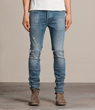 Mens Dak Cigarette Jeans (Indigo Blue) - product_image_alt_text_1