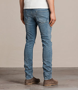 Mens Dak Cigarette Jeans (Indigo Blue) - product_image_alt_text_4