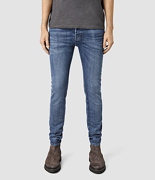 Mens Adkins Cigarette Jeans (MID INDIGO BLUE)