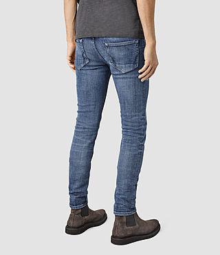 Hommes Adkins Cigarette Jeans (MID INDIGO BLUE) - product_image_alt_text_3