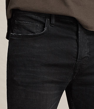 Mens Kikare Cigarette Jeans (Black) - product_image_alt_text_2