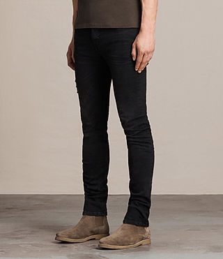 Mens Kikare Cigarette Jeans (Black) - product_image_alt_text_3