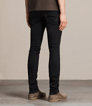 Mens Kikare Cigarette Jeans (Black) - product_image_alt_text_4