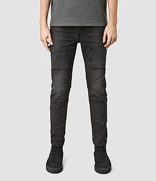 Mens Reynolds Biker Jeans (Black)
