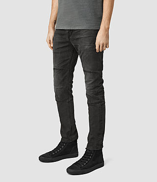 Uomo Reynolds Biker Jeans (Black) - product_image_alt_text_2