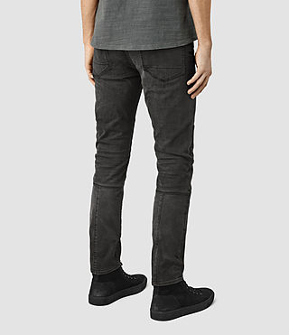 Mens Reynolds Biker Jeans (Black) - product_image_alt_text_3