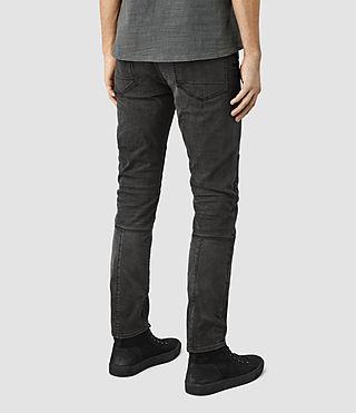 Uomo Reynolds Biker Jeans (Black) - product_image_alt_text_3