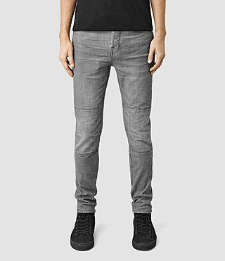 Mens Reynolds Biker Jeans (Grey)