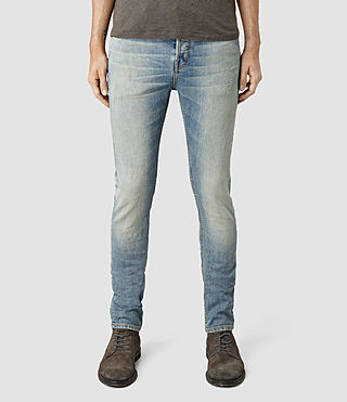 Men's Elswith Cigarette Jeans (LIGHT INDIGO BLUE)