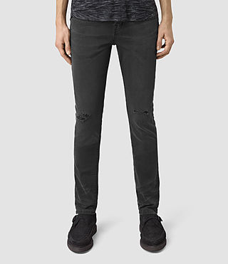 Mens Messier Cigarette Jeans (Black) - product_image_alt_text_1