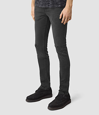 Mens Messier Cigarette Jeans (Black) - product_image_alt_text_2